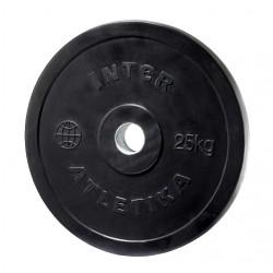 Диск обрезиненный InterAtletika LСA028 25 кг