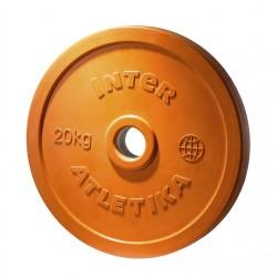 Диск обрезиненный цветной InterAtletika LСA034 20 кг