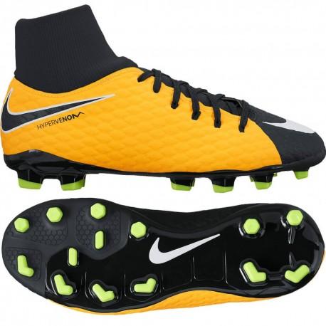 Детские футбольные бутсы Nike JR Hypervenom Phelon III DF FG 917772-801