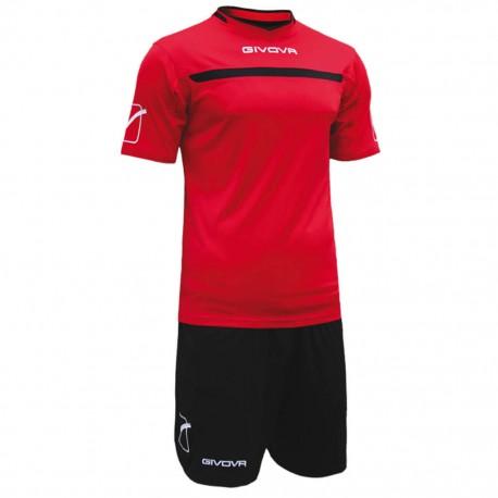 Футбольная форма GIVOVA KITC58.1210 красно-черная