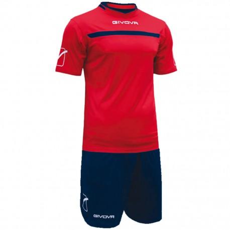 Футбольная форма GIVOVA KITC58.1204 красно-синяя