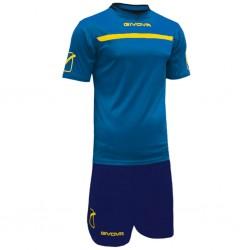 Футбольная форма GIVOVA KITC58.0207 синяя с желтым