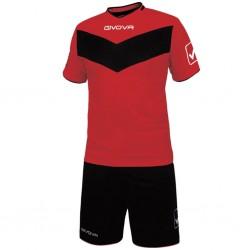 Футбольная форма GIVOVA KITT04.1210 красно-черная