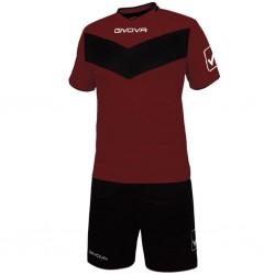 Футбольная форма GIVOVA KITT04.0810 бордовая