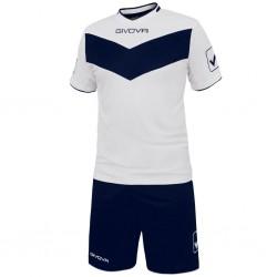 Футбольная форма GIVOVA KITT04.0304 бело-синяя