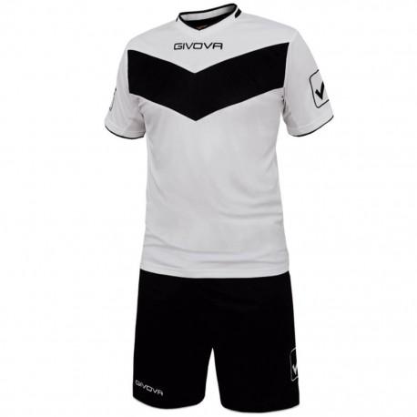 Футбольная форма GIVOVA KITT04.0310 бело-черная