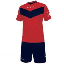 Футбольная форма GIVOVA KITT04.1204 красно-синяя