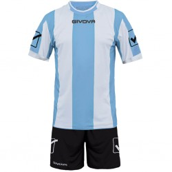 Футбольная форма GIVOVA KITC26.0503 бело-голубая