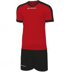 Футбольная форма GIVOVA KITC59.1210 красно-черная