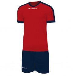 Футбольная форма GIVOVA KITC59.1204 красно-синяя