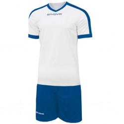 Футбольная форма GIVOVA KITC59.0302 бело-синяя