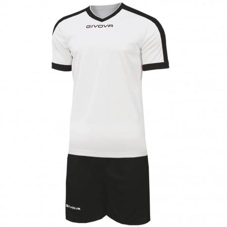 Футбольная форма GIVOVA KITC59.0310 бело-черная