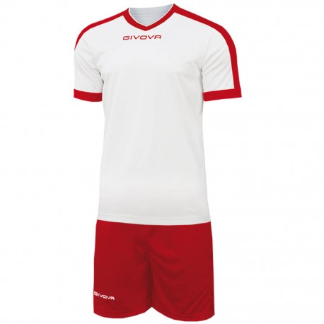 Футбольная форма GIVOVA KITC59.0312 бело-красная