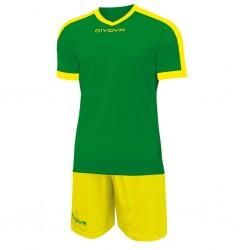 Футбольная форма GIVOVA KITC59.1307 зелено-желтая