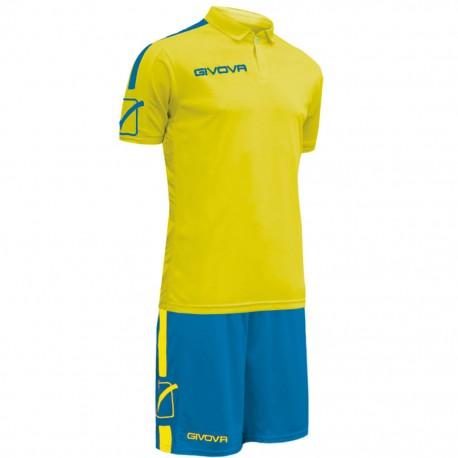 Футбольная форма GIVOVA KITC56.0702 желто-голубая