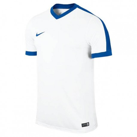 Футболка игровая Nike Striker IV 725892-100 белая с синим