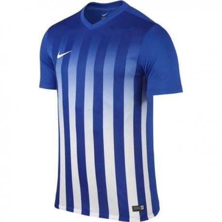 Футболка игровая Nike Striped Division II 725893-463 бело-синяя
