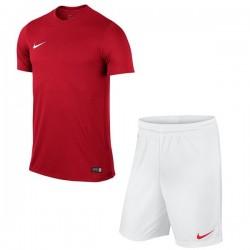 Детская футбольная форма Nike JR Park VI 725984-657+725988-102 красно-белая