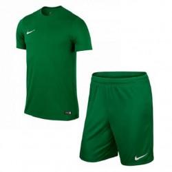 Детская футбольная форма Nike JR Park VI 725984-302+725988-302 зеленая