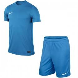 Детская футбольная форма Nike JR Park VI 725984-412+725988-412 голубая