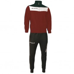 Спортивный костюм GIVOVA TUTA CAMPO TR024.0810 бордовый