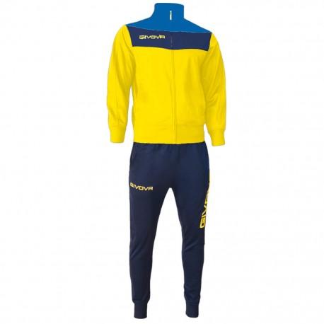 Спортивный костюм GIVOVA TUTA CAMPO TR024.0704 желто-синий