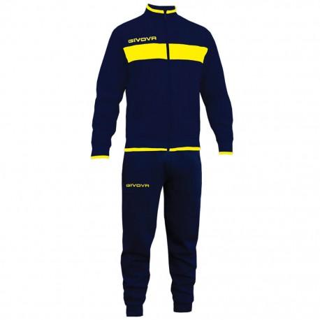 Спортивный костюм GIVOVA TUTA DROPS LF11.0407 сине-желтый