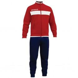 Спортивный костюм GIVOVA TUTA DROPS LF11.1204 красно-синий