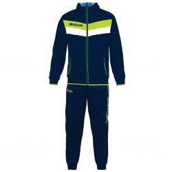 Спортивный костюм GIVOVA TUTA MATADOR TR020.0419 сине-салатовый