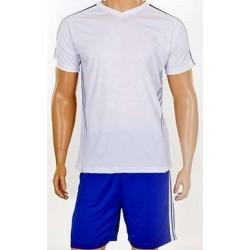 Детская футбольная форма бело-синяя CO-703B-W