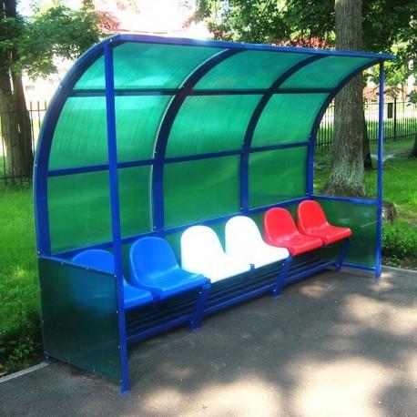 Скамья для запасных с накрытием (6 мест)