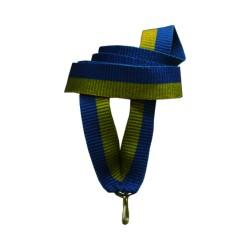 Лента для медалей 15мм сине-желтая Класик