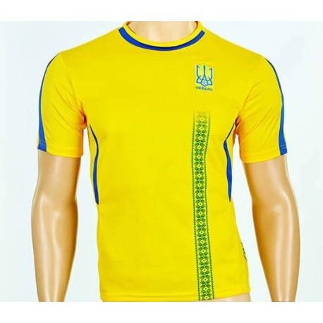 Детская футбольная форма Сборной Украины CO-3900-UKR-18Y желтая