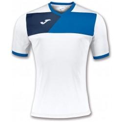 Футболка игровая Joma CREW II 100611.207 бело-синяя