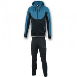 Спортивный костюм с капюшоном Joma ESSENTIAL 101019.116 черно-бирюзовый