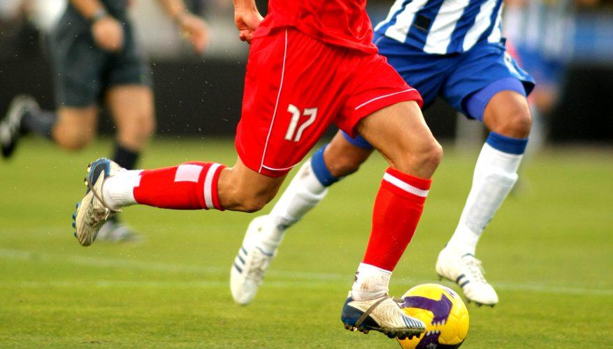 футбол на поле
